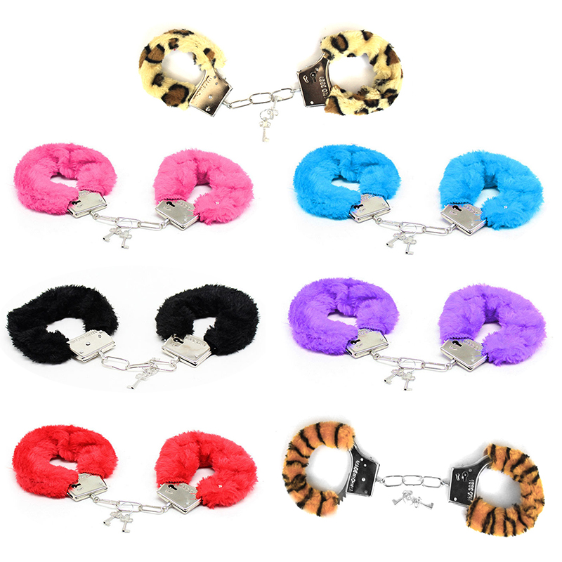 1 Pc Furry Metal Plush Bundle Handcuffs For Slave Fetish Role-Playing SM Bondage Sexy Erotic Accessories Sex Game For Couples