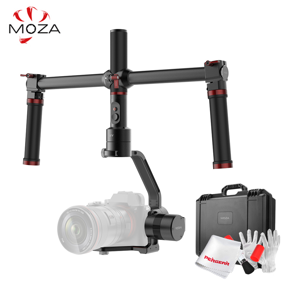MOZA Air 3 Axis DSLR Handheld Gimbal Stabilizer Dual Handle Case For Canon Nikon SONY A7 Cameras Load 3.2 KG VS Zhiyun Crane latest 2017 version zhiyun crane 3 axis handheld stabilizer gimbal for dslr canon sony a7 cameras load 1800g