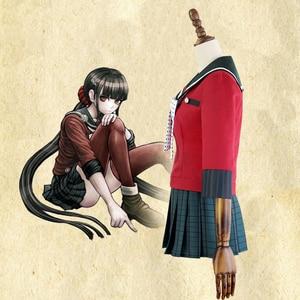 Image 2 - Yeni 6 adet Danganronpa V3 öldürme Harmony Harukawa Maki okul üniforması kadın kız Cosplay kostüm seti ve peruk cadılar bayramı kostüm