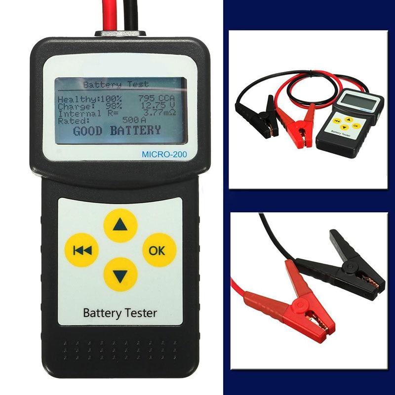 JX LCLYL 12 V Numérique Testeur De Batterie de Voiture Auto Véhicule Analyseur de Batterie AGM GEL MICRO 200 dans Batterie Testeurs de Automobiles et Motos