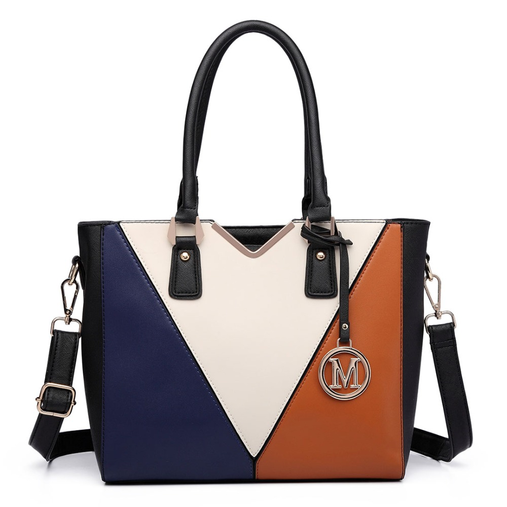 Fashion Women Stylish leather shoulder bag with white V-shape front Medium Style Handbag Messenger Cross Body  Satchel Tote Bag недорго, оригинальная цена