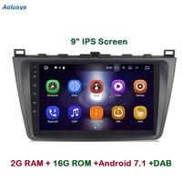 Aoluoya IPS 2GB RAM Quad Core Android 7.1 CAR Radio GPS Navigation For Mazda 6 Ruiyi Ultra 2008 2009 2010 2011 2012 Car DVD WIFI
