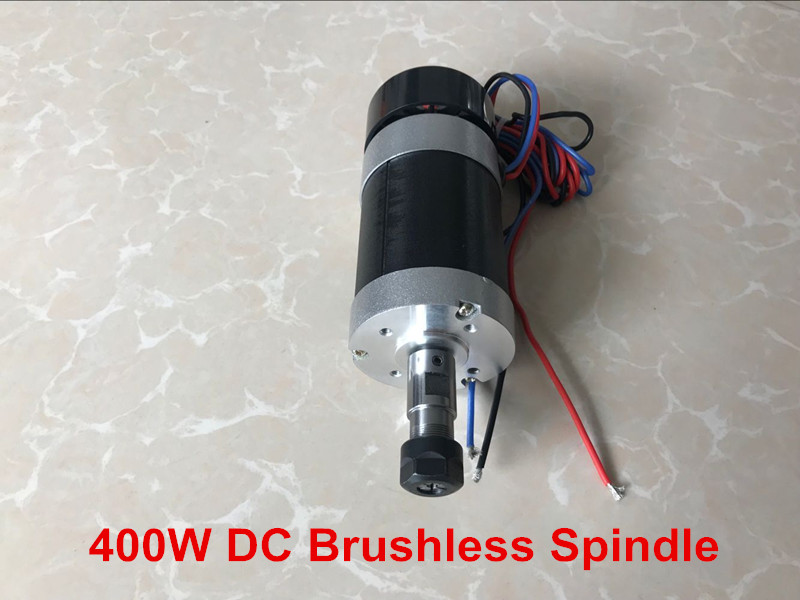 Free shipping 2018 CNC Spindle 400W Brushless DC Spindle Motor ER11 55MM Air Cooled Spindle For Milling Machine new 1 5kw air cooled spindle motor kit cnc spindle motor 220v 1 5kw inverter square milling machine spindle free 13pcs er11