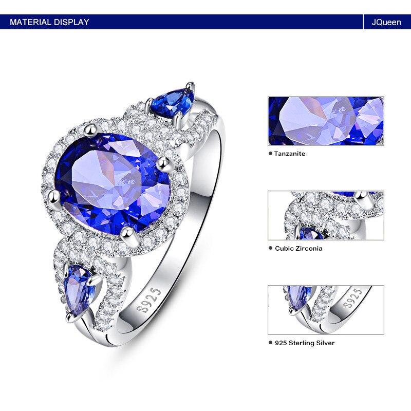 d78ecd7abdd BONLAVIE Oval e Gota de Água Azul Safira Anel de Prata 925 Anéis mulheres  Presente Fine Jewelry Tamanho 6 7 8 9 para As Mulheres Y0033R12