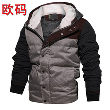 Winter warm European size mens new thick cotton clothing winter padded clothes with  jacket male