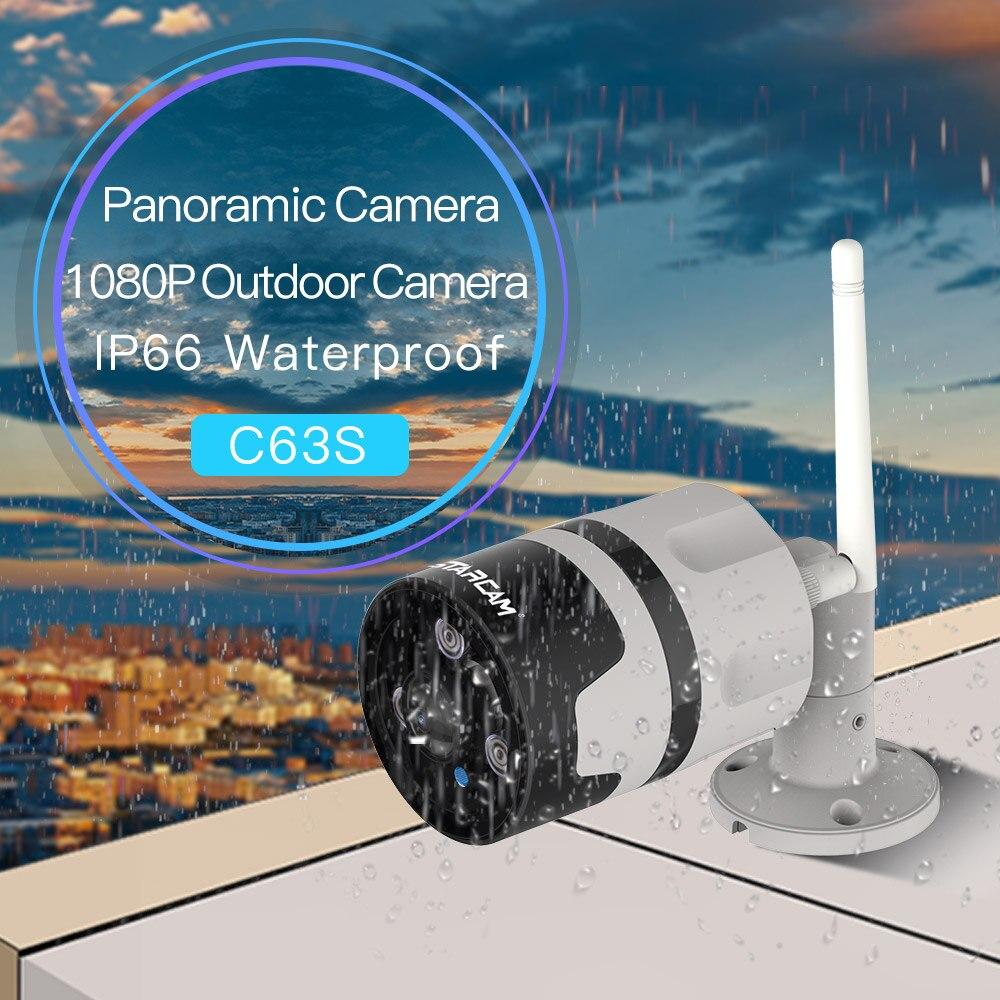 Surveillance sans fil À Domicile Caméra Panoramique C63S 2.0 Mégapixels FHD Sécurité Vision Nocturne Détection de Mouvement Caméra IP Extérieure
