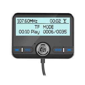 Image 2 - JaJaBor רכב DAB הדיגיטלי רדיו FM משדר Bluetooth דיבורית ערכת דיגיטלי אודיו שידור QC3.0 מהיר תשלום + אוויר Vent קליפ