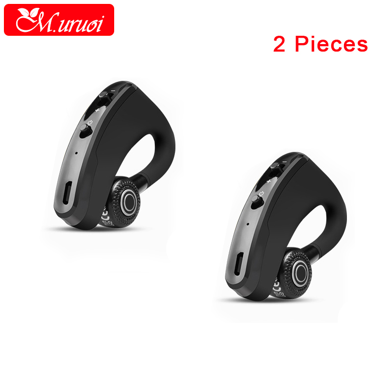 M.uruoi 1 Combo (2 pieces) Noise Reduction Headphones inear Earphones Wireless Bluetooth Headset Handsfree Earbud With Mic k10a bluetooth headset voyager legend headphones stereo handsfree noise reduction bluetooth earphones with storage box