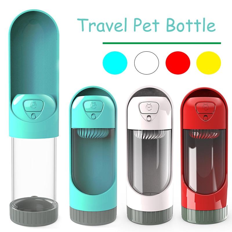 300ml Portable Pet Dog Water Bottle Travel Dog Bowl Cups: 300 Ml Pullable Design Pet Water Bottle Portable Dog Cat