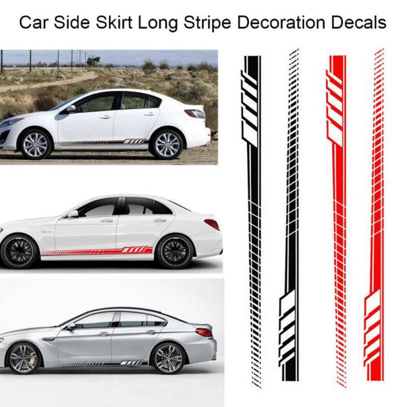 New Universal Racing Body Side Stripe Hood Sticker For All Car Vinyl Bumper Decals