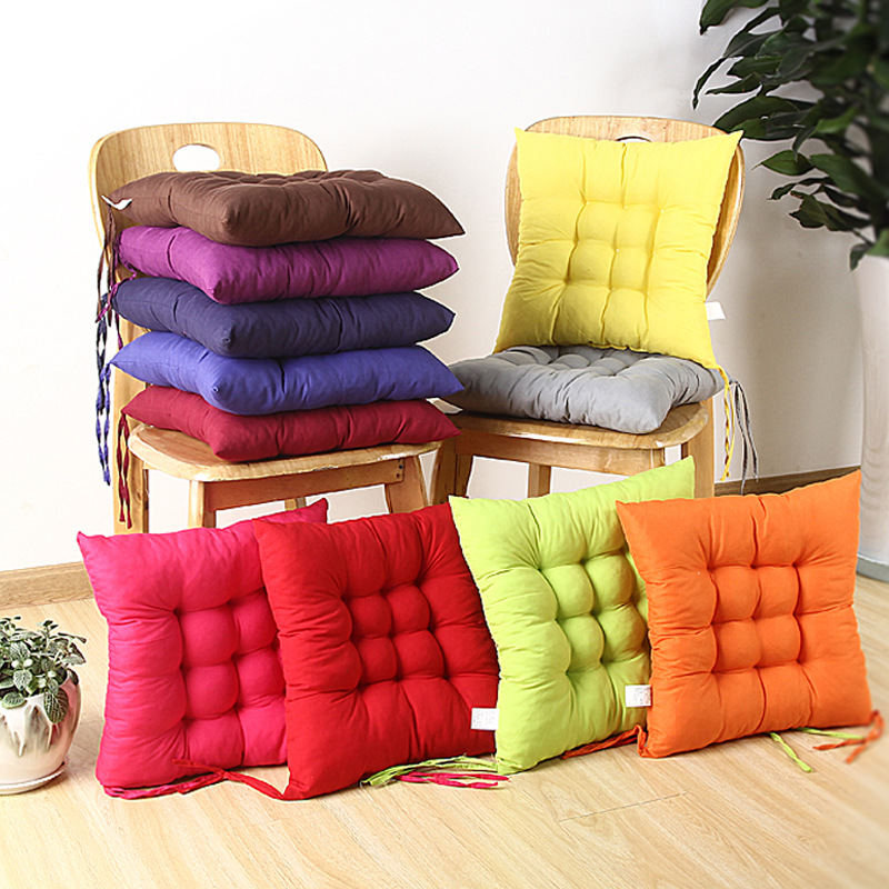 Futon 40x40cm Soft Home Dinning Room Square Polyester Seat Cushion Chair Stool Window Pad