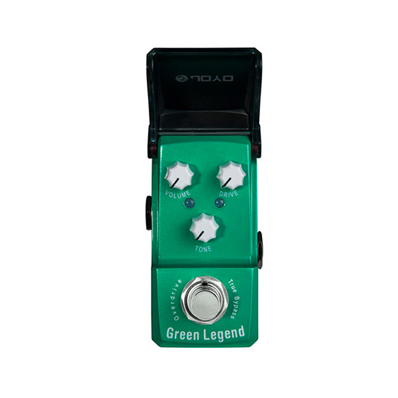 JOYO JF-319 Green Legend Overdrive Guitarra Effect Pedal Mini Electric Guitar Effect Pedal with Knob Guard with True Bypass aroma aos 3 octpus polyphonic octave electric guitar effect pedal mini single effect with true bypass