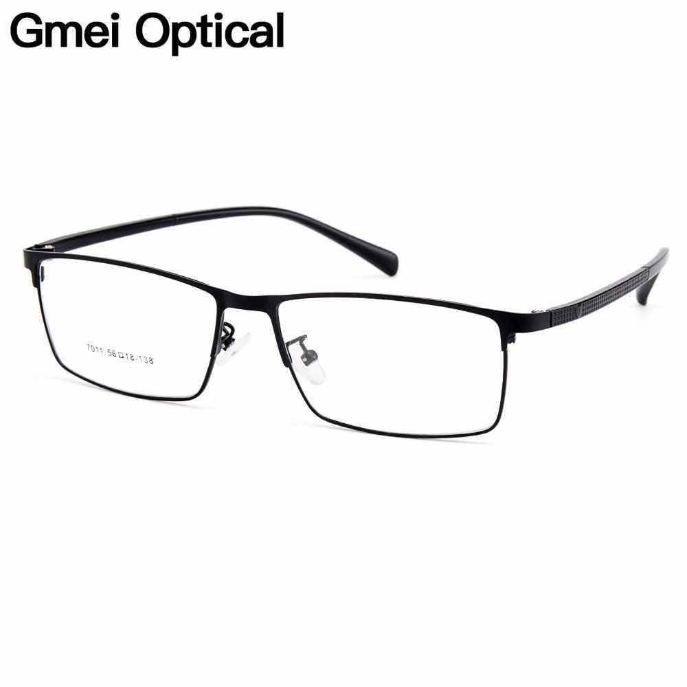 Gmei Homens Ópticos Armações de Óculos De Liga de Titânio para Homens Óculos Templos Flexíveis Pernas IP Galvanoplastia Liga Óculos Y7011