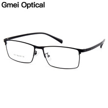 Gmei Optical Men Titanium Alloy Eyeglasses Frames for Eyewear Flexible Temples Legs IP Electroplating Spectacles Y7011