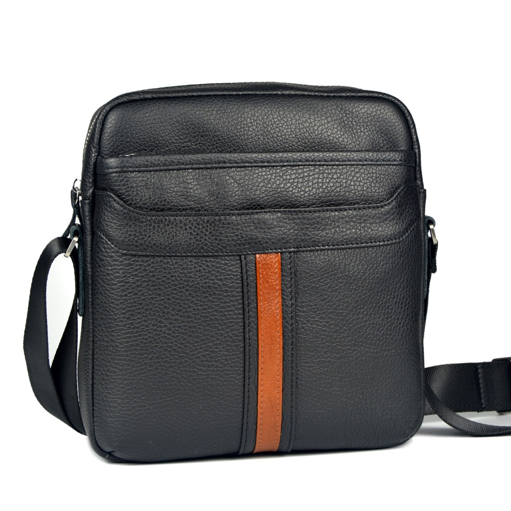 Genuine leather messenger bags for men bag commercial 2015 casual male one shoulder cross body leather