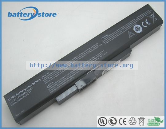 FREE SHIP 63W New battery A42-C17, A41-C17 for MEDION Akoya E7227, E7227T, E7223, E7225, E7226, E7228, E7631(China)