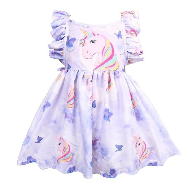 Floral Unicorn Princess Dress