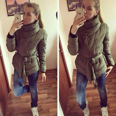 2017 Winter Coat Womens Parka Long Thick Warm Down Cotton Jacket Women Jackets And Coats S