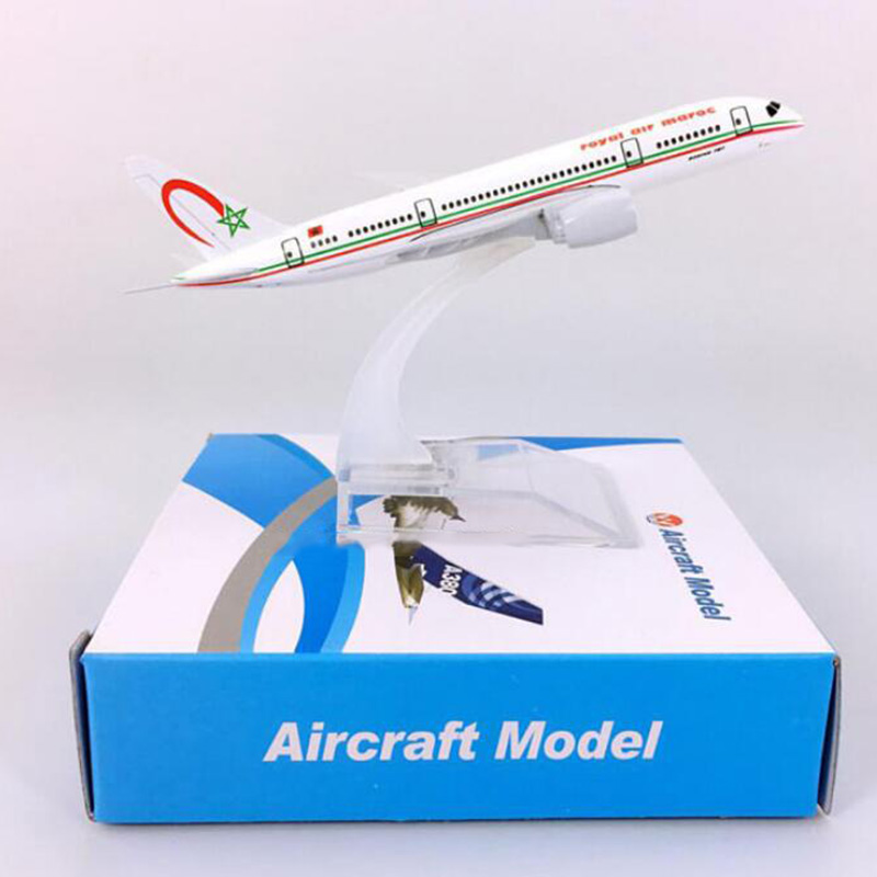 14CM 1:400 Boeing B787-800 Model Royal Air Moroccan Airlines W Base Airbus Metal Alloy Aircraft Plane Collectible Display Model