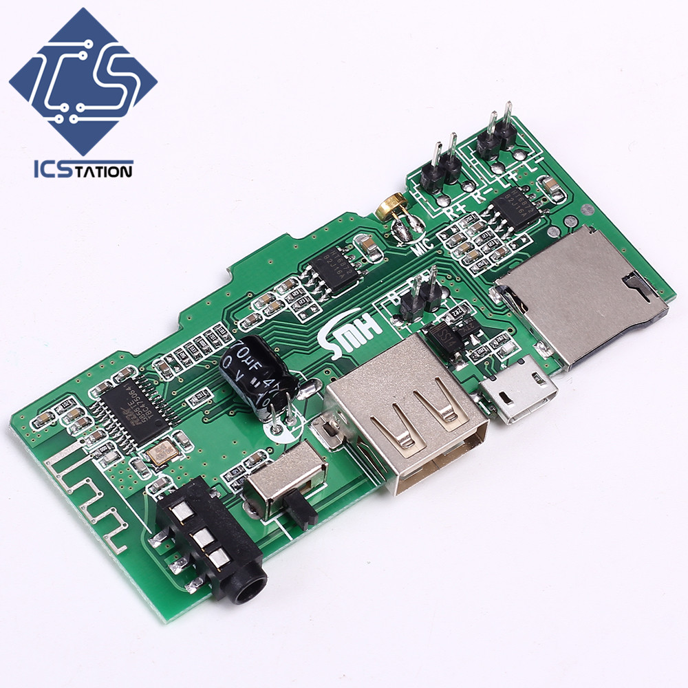 2x3W Bluetooth Audio Receiver Board Module 74x34x1.0mm For U-Disk/AUX/FM/TF Card/MP3 пила дисковая 5704 r 1200 вт гл пропила 66 мм 190 мм паркетка makita