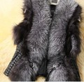 Plus Size S - XXXL Faux Fox Fur Vest Short Leather Vest Women's Ladies Winter coat 2017 New Design