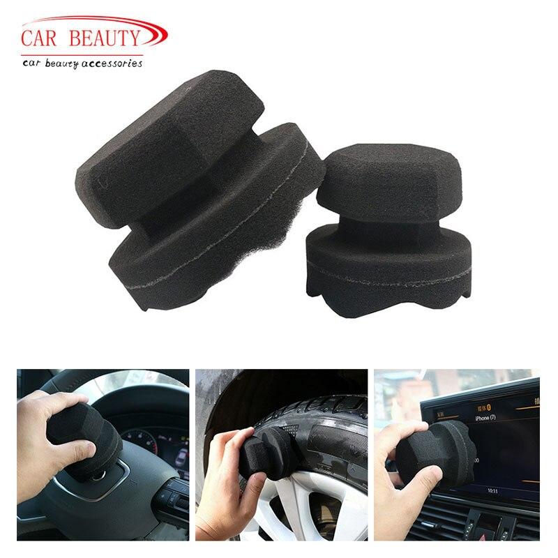 Limpiador de neumático negro de 8/11CM que detalla el lavado del coche, herramientas de limpieza del coche, esponja para encerar el coche, cepillo para Detalles Trendyol bucle detallada Fondo de Bikini TBESS20BA0330