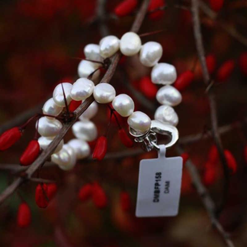 DAIMI อินเทรนด์สร้อยข้อมือไข่มุกบาร็อคธรรมชาติสีขาวมุกสีขาว,ของขวัญผู้หญิง