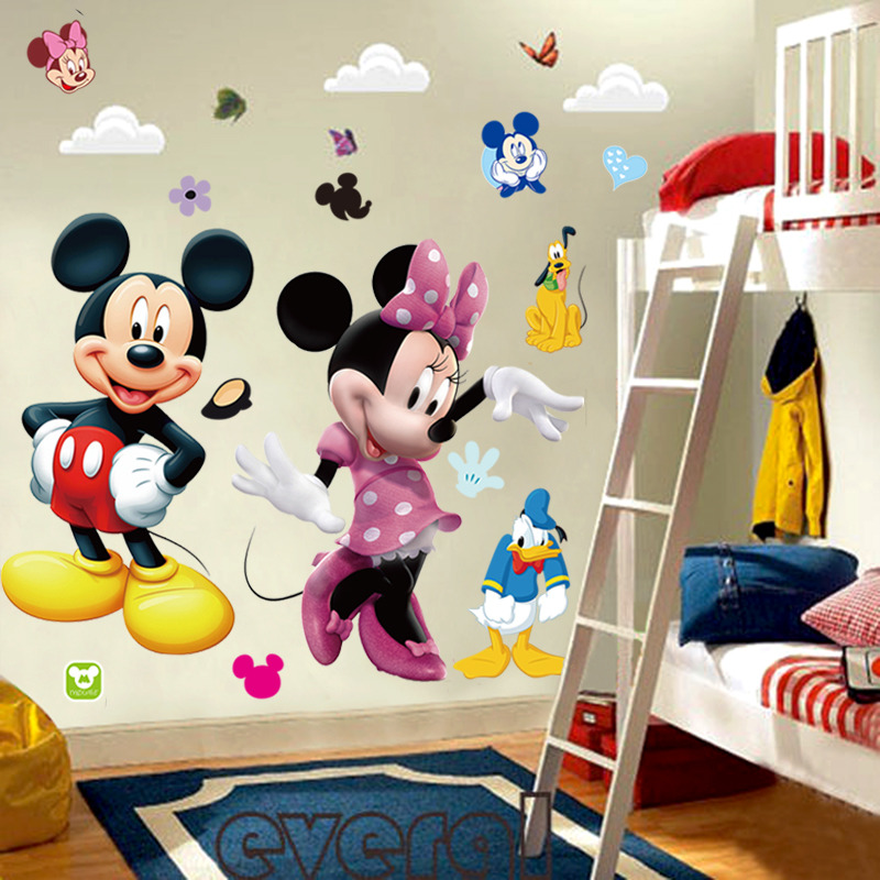 Mickey Mouse Minnie Vinyl Mural Wall