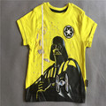 Retail 1 pcs boy clothing  short sleeves Star war cotton T shirts summer Tee