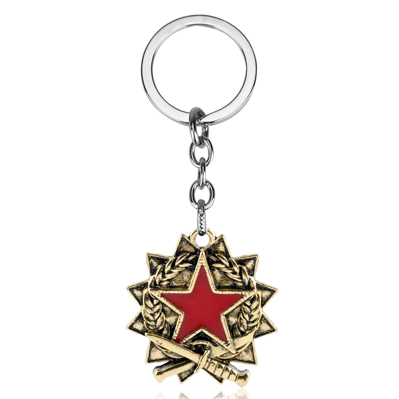 2019 Hot Game <font><b>CS</b></font> GO <font><b>Keychain</b></font>&Necklace Vantage Counter-strike T/CT Key Chain Pentagram Pendant Keyring for Men Gifts Souvenirs image