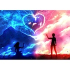 Lover Under the Moon 5D DIY Diamond Painting Cross Stitch Craft Kit Paint by Number Kits for Adults Kids Full Diamond Painting