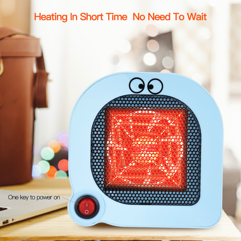 Fast Heating Electric Air Heater Mini Mute Desktop Fan Heater Small Home Office Space Heater has Overheat Protection Function 31 dmwd mini portable fan heater hand electric air warmer heating winter keep warm desk fan for office home 50w overheat protection