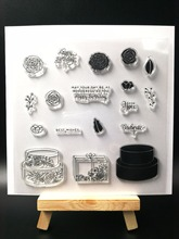 Happy Birthday Clear Silicone Stamp seal for DIY Scrapbooking photo Album Decorative Clear Stamp Sheets H020