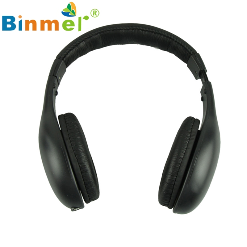 Beautiful Gift New 5IN1 Wireless Headphone Casque Audio Sans Fil Ecouteur Hi-Fi Radio FM TV MP3 MP4 Wholesale price Aug19