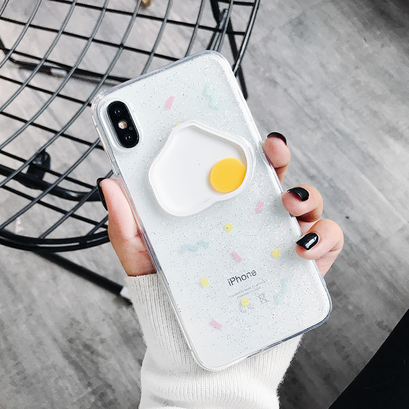 Detail Feedback Questions about For iPhone XS Max XR X 8 7 6 6S Plus Cover  3D Poached Fried Egg Glitter Clear Soft TPU Case on Aliexpress.com  b56a37d6cf5f
