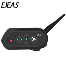 EJEAS SKI10 1200m Bluetooth SKI Helmet Intercom Headset Big Button 500mAh AUX Auo Reconnection Firmware Upgradeable For 2 Skiers
