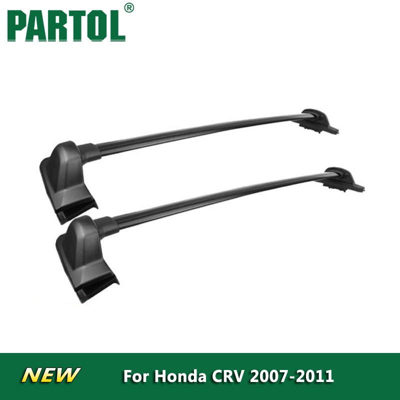 Partol <font><b>Car</b></font> Roof Rack Crossbars Cross bars Roof Luggage Carrier Roof Rail Bike Rack 132LBS/60KG for Honda CRV 2007 2008 2009-2011
