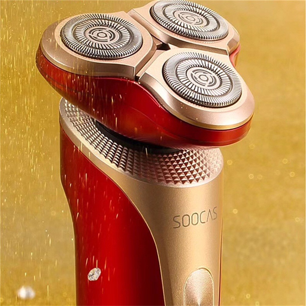 Image 2 - Original Xiaomi Mijia SOOCAS S3 Electric Shaver 3 Cutter Head Floating Shaving USB Rechargeable Waterproof  Razor For Men-in Electric Shavers from Home Appliances