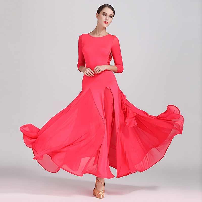 1a94f1c5f Sexy backless ballroom dress woman ballroom dance clothes red spanish  flamenco dress viennese waltz dress fringe