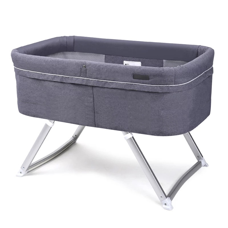 Crib Foldable Portable Baby Folding Bed Multi-function BB Bed Newborn Cradle Bed Sleepy Shake Shaker