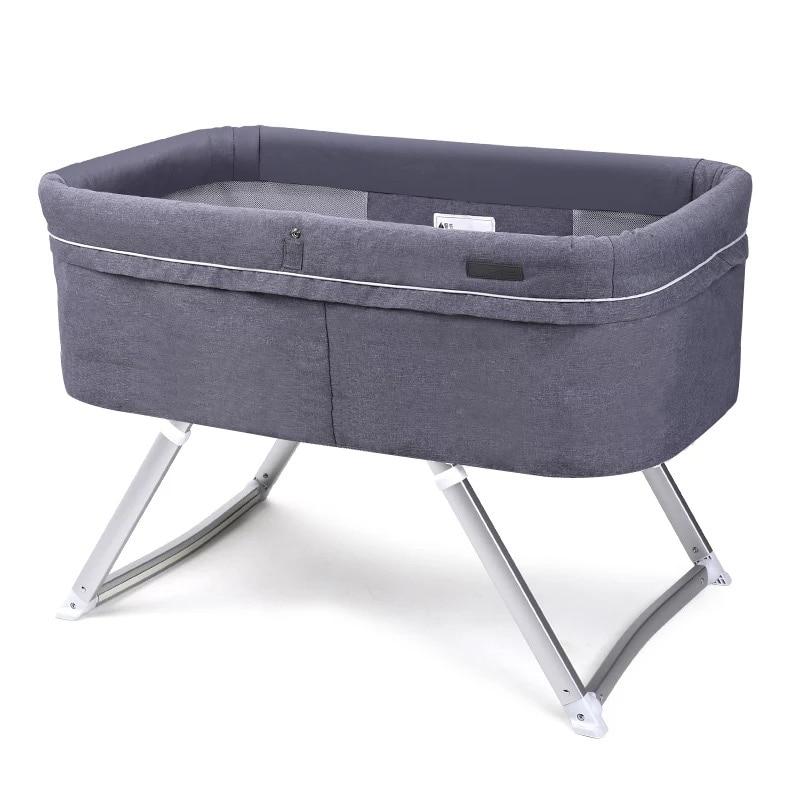 Crib Foldable Portable Baby Folding Bed Multi-function BB Bed Newborn Cradle Bed Sleepy Shake Shaker