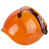 Universal Flip Up Lens Bubble Visor Face Shield Mask For TORC LS2 Vintage Retro Motorcycle Helmet