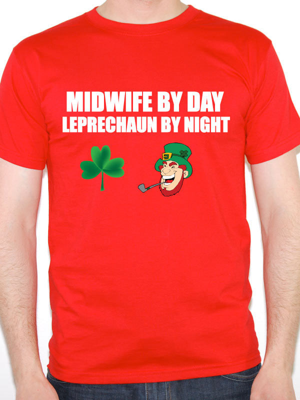 Hipster Tees  Men B Friend Midwife By Day Leprechaun Pregnancy Pregnant Themed s
