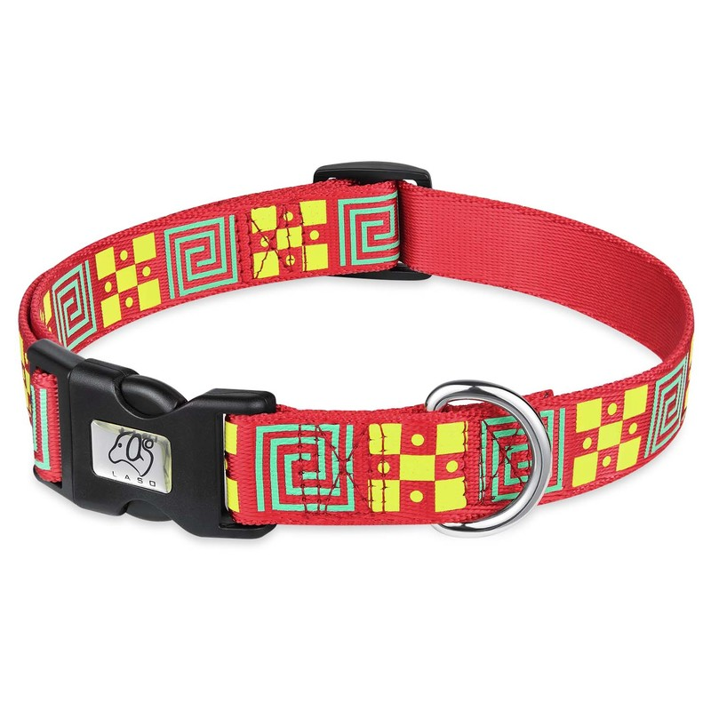 Pet Dog Collars Chinese Style Pattern Collar Adjustable Buckle Nylon For Large Medium And Small Dogs Soft Supplies