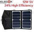 ELEGEEK 12 W 5 V Painel Solar Dobrável USB Portátil de Alta Eficiência Sunpower Carregador Solar Dobrável Carregador de Painel Solar Ao Ar Livre Pack