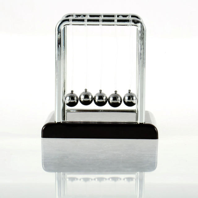 Newton teaching Science Desk toys Cradle Steel Balance Ball Physic School Educational Supplies High Quality Drop Shipping