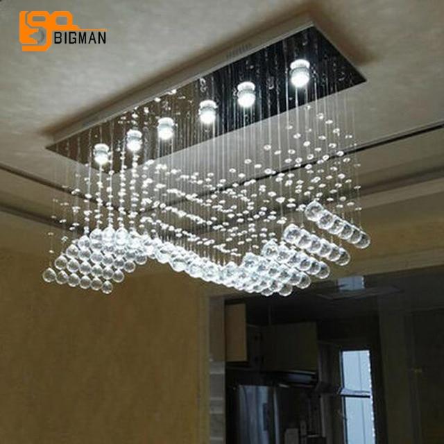 Vente chaude lustre en cristal contemporain lampe à LED lustre salle ...