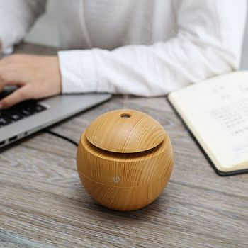 USB Aroma Humidifier ESSential Oil Diffuser Ultrasonic Cool Mist Humidifier Air Purifier 7 Color Change LED Night Light