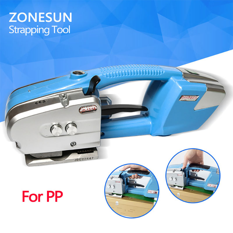 ZONESUN JD16 PP Battery Power Strapping machine Electric Plastic Strapping machine power strapping tool for tobacco paper steel 2016 hot heating jade cushion mattress natural tourmaline mat physical therapy mat korea heated mattress 0 7x1 6m