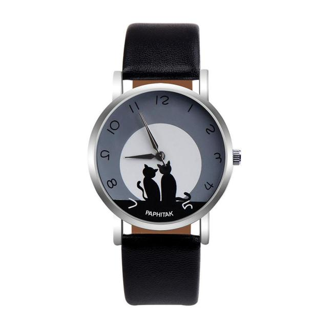 Moemnt # N03 Dropshipping Watch Women's Cute Faux Cat Women's Watch Analog Quart
